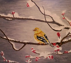 """Waiting for Spring"" 12""x12"" Acrylic on Canvas Original work SOLD  $75.00"